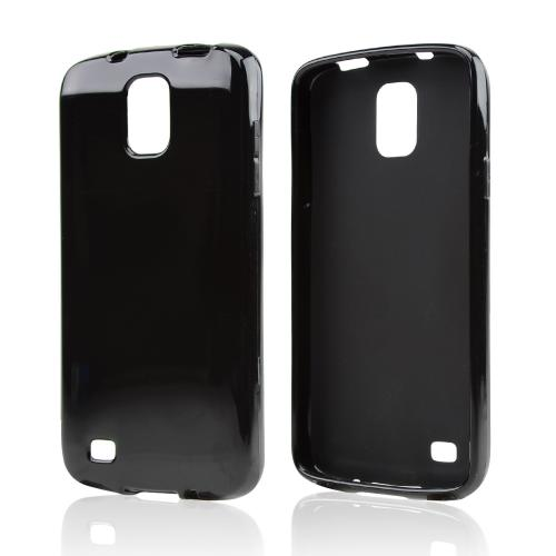 Black Crystal Silicone Skin Case for Samsung Galaxy S4 Active