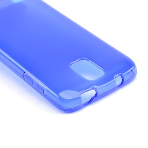 Blue /Frosted Crystal Silicone Skin Case for Samsung Galaxy S4 Active