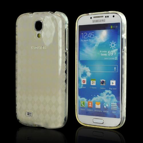 Clear Argyle Crystal Silicone Case for Samsung Galaxy S4