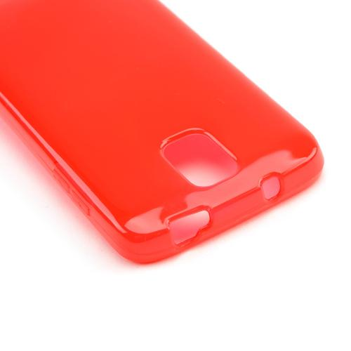 Red /Frosted Crystal Silicone Skin Case for Samsung Galaxy S4 Active