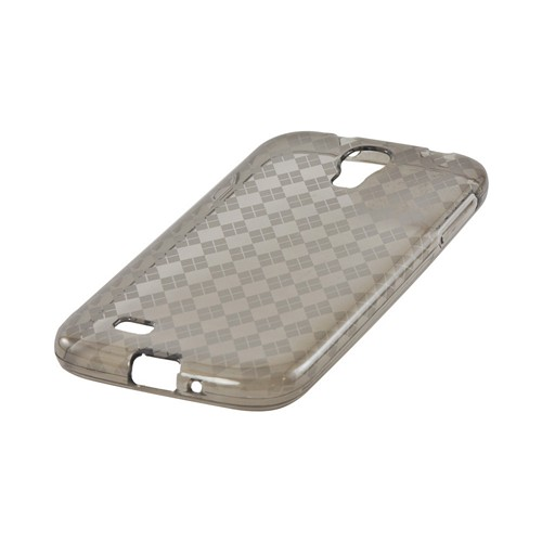 Smoke Argyle Crystal Silicone Case for Samsung Galaxy S4