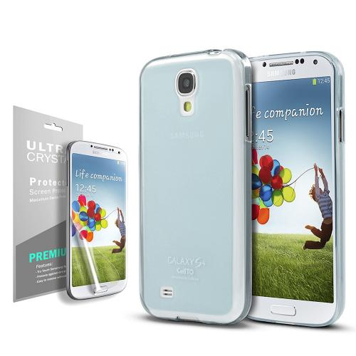 Baby Blue/ Frosted Matte Crystal Silicone Skin Case for Samsung Galaxy S4