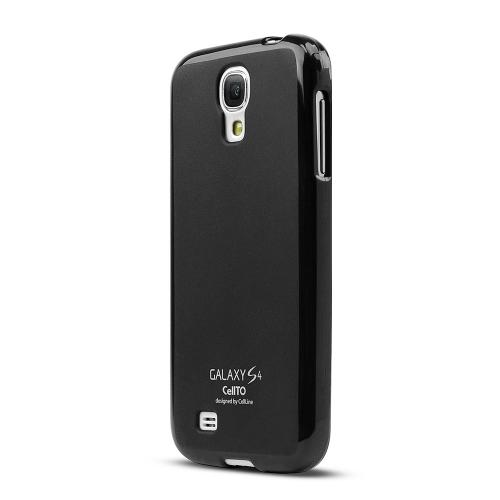 Black Matte Crystal Silicone Skin Case for Samsung Galaxy S4