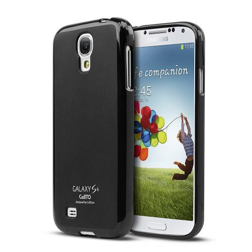 Manufacturers Black Matte Crystal Silicone Skin Case for Samsung Galaxy S4 Skins