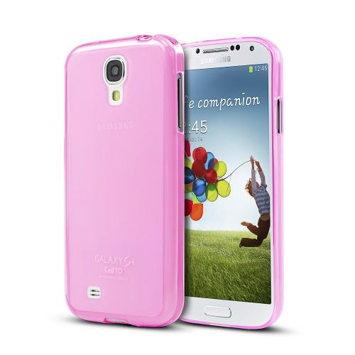 Baby Pink/ Frosted Matte Crystal Silicone Skin Case for Samsung Galaxy S4