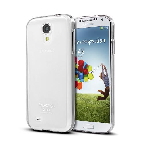 Clear/ Frosted Matte Crystal Silicone Skin Case for Samsung Galaxy S4