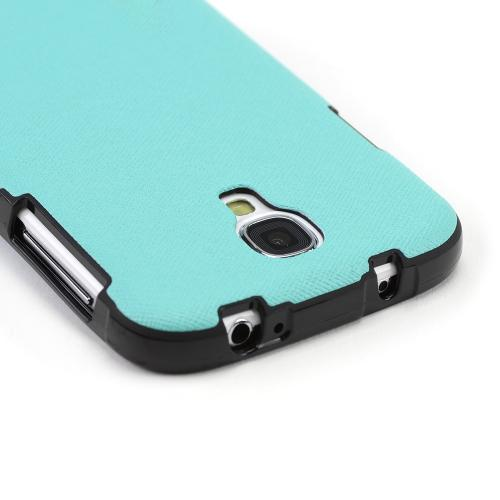 Dark Mint/ Black Crystal Silicone Skin Case w/ Textured Back for Samsung Galaxy S4