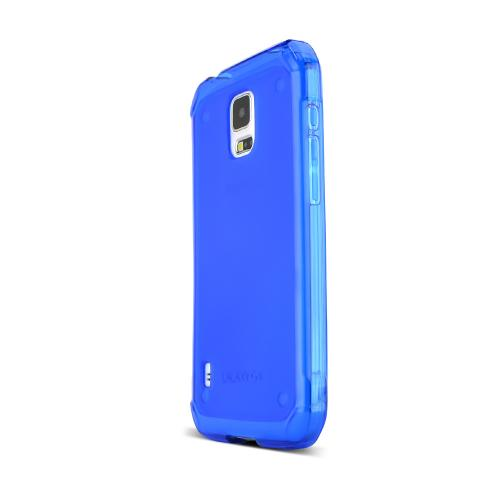 Blue Samsung Galaxy S5 Active Flexible Crystal Silicone TPU Case - Conforms To Your Phone Without Stretching Out!