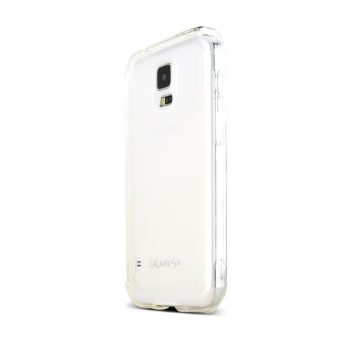 Clear/ Frost Samsung Galaxy S5 Active Flexible Crystal Silicone TPU Case - Conforms To Your Phone Without Stretching Out!