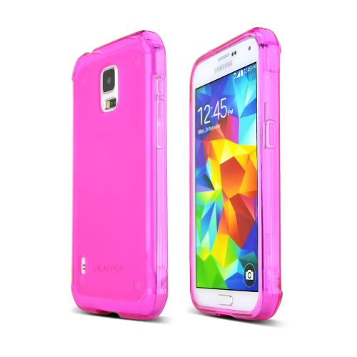 Hot Pink Samsung Galaxy S5 Active Flexible Crystal Silicone TPU Case - Conforms To Your Phone Without Stretching Out!