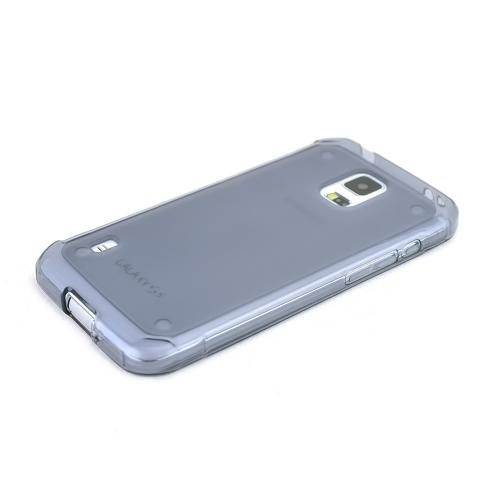 Smoke Samsung Galaxy S5 Active Flexible Crystal Silicone TPU Case - Conforms To Your Phone Without Stretching Out!