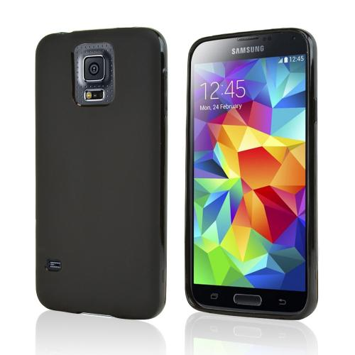 Black Crystal Silicone TPU Skin Case for Samsung Galaxy S5