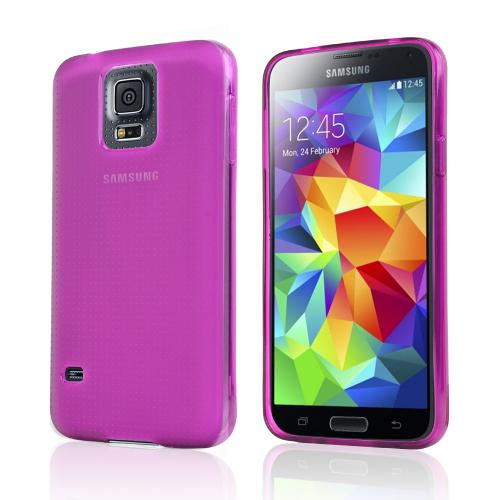 Purple/ Frost Crystal Silicone TPU Skin Case for Samsung Galaxy S5