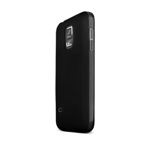 Black Samsung Galaxy S5 Mini Flexible Crystal Silicone TPU Case - Conforms To Your Phone Without Stretching Out!
