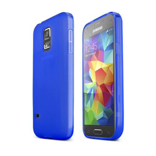 Blue/ Frost Samsung Galaxy S5 Mini Flexible Crystal Silicone TPU Case - Conforms To Your Phone Without Stretching Out!