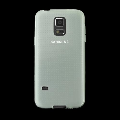 Clear/ Frost Samsung Galaxy S5 Mini Flexible Crystal Silicone TPU Case - Conforms To Your Phone Without Stretching Out!