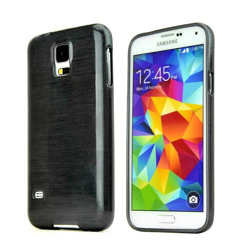 REDShield Dark Gray Striped Samsung Galaxy S5 Flexible Crystal Silicone TPU Case - Conforms To Your Phone Without Stretching Out!