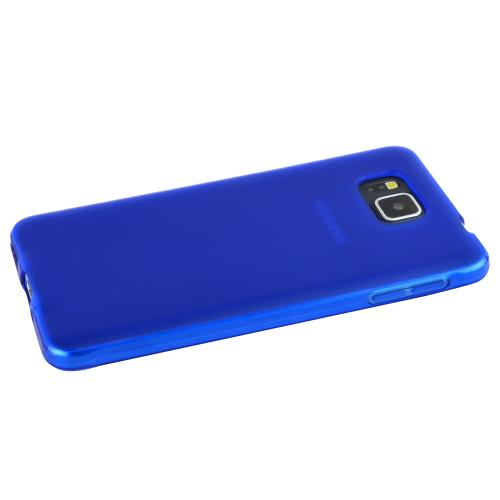 Samsung Galaxy Alpha Hybrid Case [blue] Heavy Duty Protective Dual Layer Rugged Bumper Hybrid Case