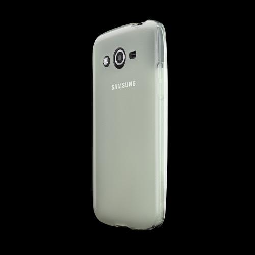 Clear/ Frost Samsung Galaxy Avant Flexible Crystal Silicone TPU Case - Conforms To Your Phone Without Stretching Out!