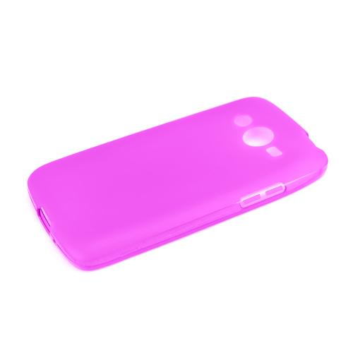 Hot Pink/ Frost Samsung Galaxy Avant Flexible Crystal Silicone TPU Case - Conforms To Your Phone Without Stretching Out!