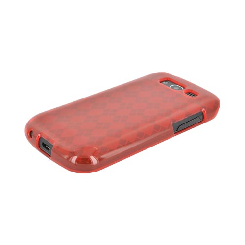Samsung Galaxy S Blaze 4G Crystal Silicone Case - Argyle Red