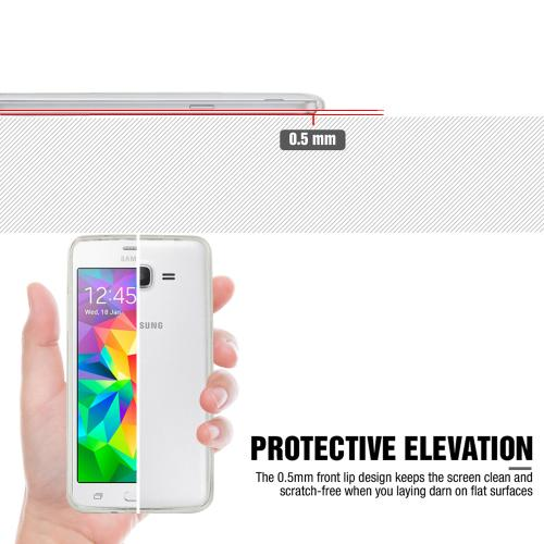 [Samsung Galaxy Grand Prime] Case, REDshield [Clear] Slim & Flexible Anti-shock Crystal Silicone Protective TPU Gel Skin Case Cover