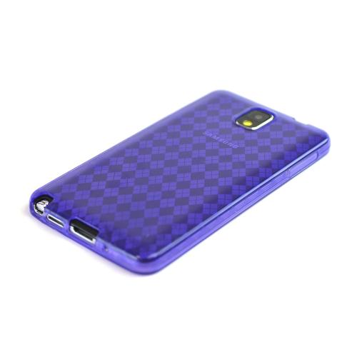 Argyle Purple Crystal Silicone Skin Case for Samsung Galaxy Note 3