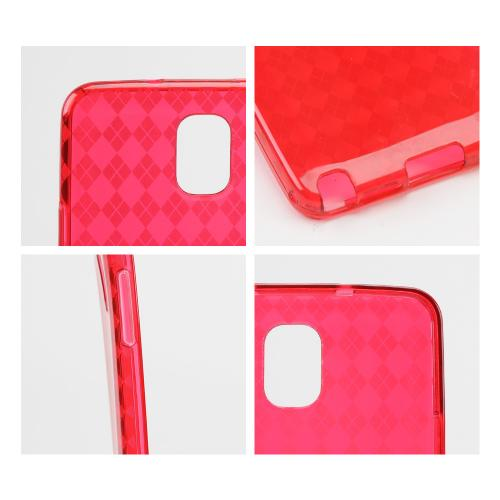 Argyle Red Crystal Silicone Skin Case for Samsung Galaxy Note 3