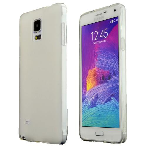 Samsung Galaxy Note 4 Case,  [Clear]  Slim & Flexible Anti-shock Crystal Silicone Protective TPU Gel Skin Case Cover