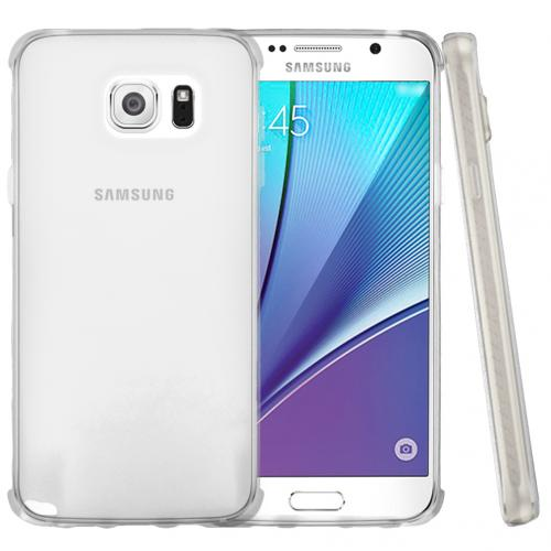 Samsung Galaxy Note 5 Case, [Clear] Slim & Flexible Crystal Silicone TPU Protective Case