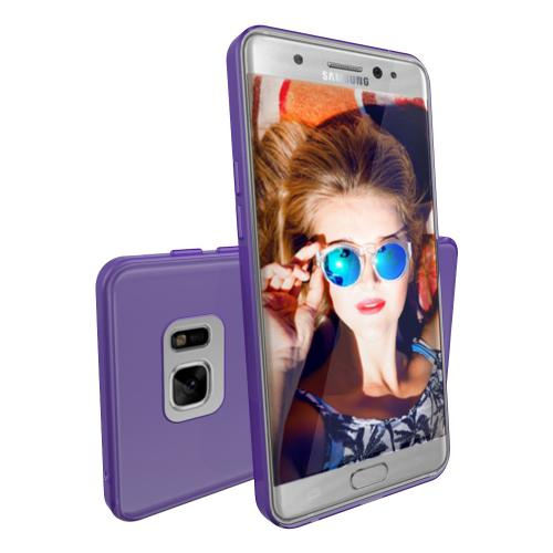 Samsung Galaxy Note 7 Case, REDshield [Purple] Slim & Flexible Anti-shock Crystal Silicone Protective TPU Gel Skin Case Cover