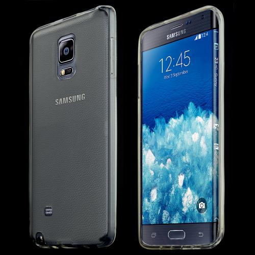 Samsung Note Edge Tpu Case [clear / Clear] Protective Bumper Case W/ Flexible Crystal Silicone Tpu Impact Resistant Material