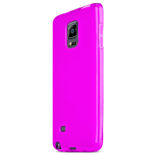 Samsung Note Edge Tpu Case [pink / Clear] Protective Bumper Case W/ Flexible Crystal Silicone Tpu Impact Resistant Material
