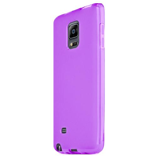 Samsung Note Edge Tpu Case [purple / Clear] Protective Bumper Case W/ Flexible Crystal Silicone Tpu Impact Resistant Material