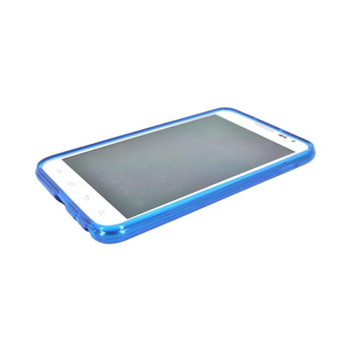 Samsung Galaxy Note Crystal Silicone Case - Argyle Blue