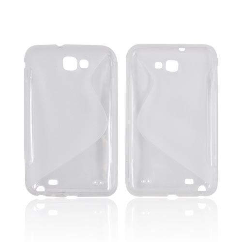 Samsung Galaxy Note Crystal Silicone Case - Transparent Clear S