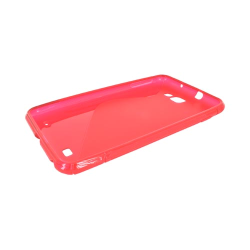 Samsung Galaxy Note Crystal Silicone Case - Transparent Red & Frost Red S