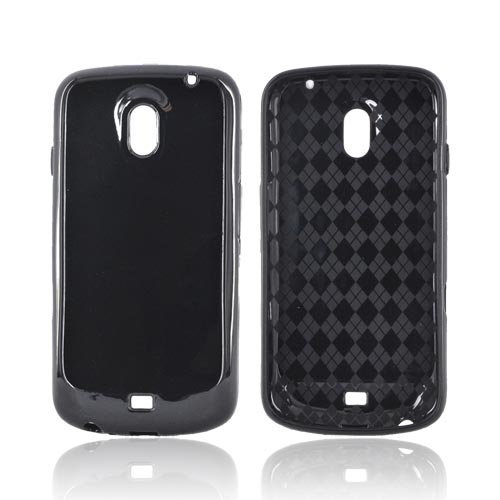 Samsung Galaxy Nexus Crystal Silicone Case - Black (Argyle Interior)