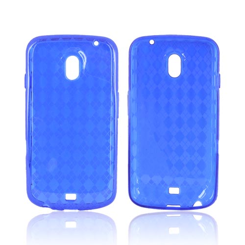 Samsung Galaxy Nexus Crystal Silicone Case - Argyle Blue