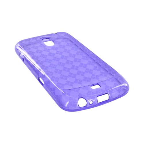 Samsung Galaxy Nexus Crystal Silicone Case - Argyle Purple