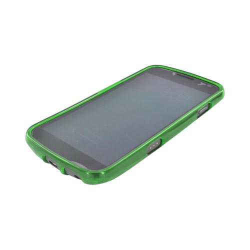 Samsung Galaxy Nexus Crystal Silicone Case - Argyle Neon Green
