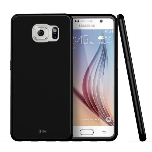 Samsung Galaxy S6 Case, Redshield [Black]  Slim & Flexible Anti-shock Crystal Silicone Protective TPU Gel Skin Case Cover
