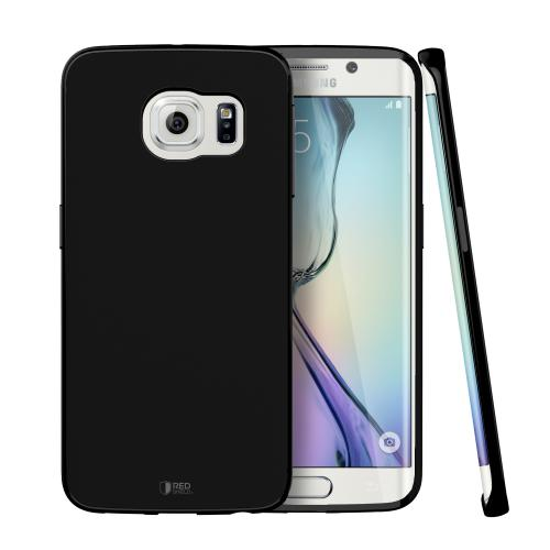 Samsung Galaxy S6 Edge Case,  [Midnight Black]  Slim & Flexible Anti-shock Crystal Silicone Protective TPU Gel Skin Case Cover