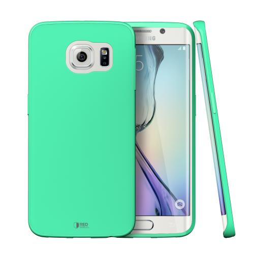 Galaxy S6 Edge Case, [Fresh Mint] Slim & Flexible Crystal Silicone TPU Skin Cover for Samsung Galaxy S6 Edge