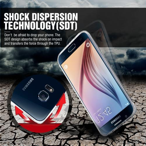 Samsung Galaxy S6 Edge Case,  [Purple]  Slim & Flexible Anti-shock Crystal Silicone Protective TPU Gel Skin Case Cover
