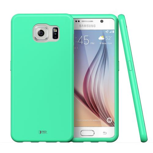 Samsung Galaxy S6 Case, Redshield [Mint]  Slim & Flexible Anti-shock Crystal Silicone Protective TPU Gel Skin Case Cover
