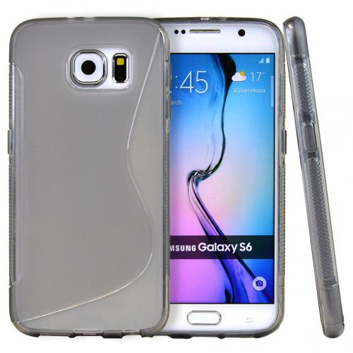 Galaxy S6 Case, [Smoke S Design] Slim & Flexible Crystal Silicone TPU Skin Cover for Samsung Galaxy S6