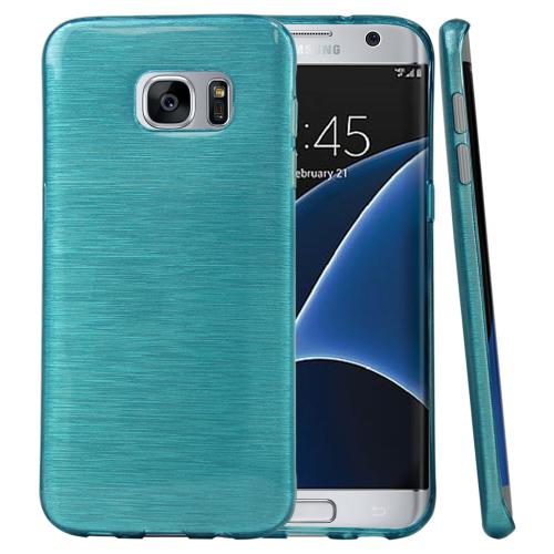 Samsung Galaxy S7 Edge Case, REDshield [Teal] Slim & Flexible Anti-shock Crystal Silicone Protective TPU Gel Skin Case Cove with Travel Wallet Phone Stand