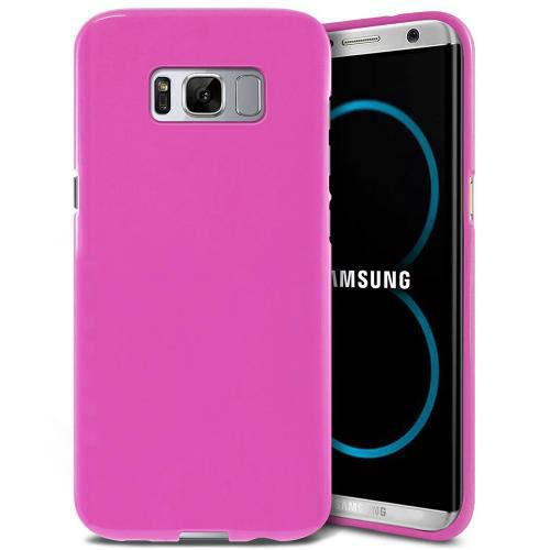 Samsung Galaxy S8 Plus Case, [REDshield] Slim & Flexible Anti-shock Crystal Silicone Protective TPU Gel Skin Case Cover [Pink] with Travel Wallet Phone Stand