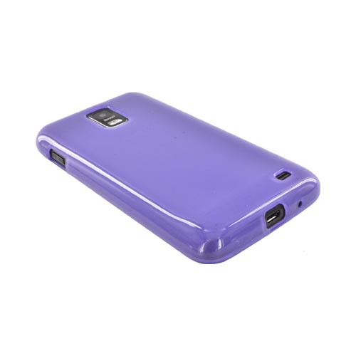 Samsung Galaxy S2 Skyrocket Crystal Silicone Case - Purple